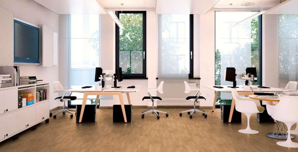 Pavimento FLINT en oficinas